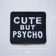 1 New Iron On Embroidery Stitch Patch Cute But Psycho