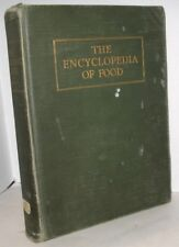 THE ENCYCLOPEDIA OF FOOD & USES VINTAGE BOOK COLOR ILLUSTR ARTEMUS WARD 1929