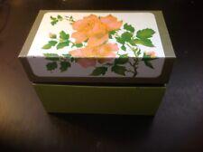 Vtg Ohio Art Co Metal Recipe Box With Roses