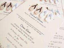 Set of 20 Personalised Handmade Flip Flops Beach Wedding Invitations