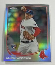 2013 Topps Chrome Refractor #112 Allen Webster Boston Red Sox Rookie RC