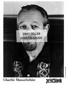 Charlie Musselwhite official 8x10 inch b&w promo/publicity/press photo 1999 MINT