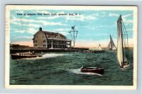 Atlantic City NJ Yacht Club Sailing Wooden Boats Vintage New Jersey Postcard