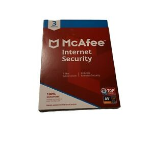 McAfee Internet Security - 3 Device / 1-Year Brand New Protection for PCs Macs