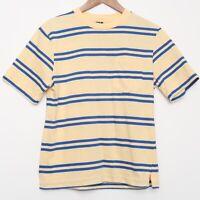 Vintage Lands End Women's Striped Pocket T Shirt S Made In USA Surf Skate Sail
