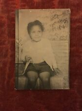 Antique Photo African American Cute Little Girl Photo Booth Black Americana