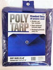 Projex  6 ft. W x 8 ft. L Light Duty  Polyethylene  Tarp  Blue