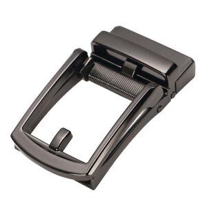 Men Ratchet Metal Leather Belt Buckle Replacement Automatic Slide Buckle DIY