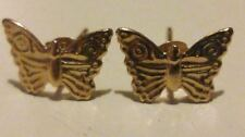 NICE 9ct 375 Yellow Gold Pair of Butterfly EARRINGS/STUDS with Gift Box*****