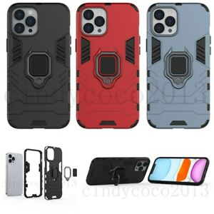 For Huawei Y6 Y9 Y6S Y9S Honor Shockproof Rugged Ring Car Holder Tough Hard Case
