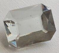 broche bijou vintage rectangle résine couleur diamant facette effet pierre 572