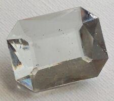 broche bijou vintage rectangle résine couleur diamant facette effet pierre 521