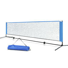 Everfit Portable Sports Net Stand Badminton Volleyball Tennis Soccer 4m 4ft Blu