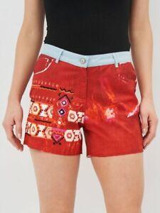 Desigual Women's Summer Shorts 100% cotton High Waited size 42, UK12-14 NWT