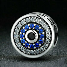 NEW Fashion European CZ Crystal Charm Silver Spacer Beads Fit Necklace Bracelet