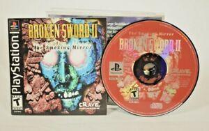 Crave - Broken Sword II: The Smoking Mirror (Sony PlayStation 1, 1999) Complete