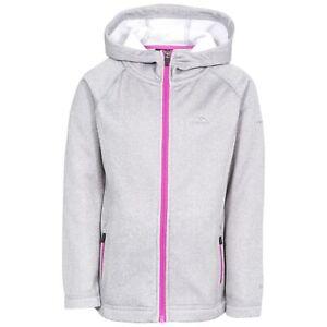 Trespass Girls Fleece Jacket Full Zip Hood Pockets School Coat Vanlily