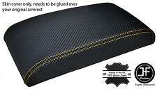 YELLOW STITCHING ARMREST CARBON FIBER VINYL COVER FITS SKYLINE R32 GTS GTR 89-93