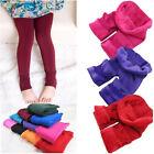 Hot Kids Girls Warm Winter Thick Velvet Leggings Lined Trousers Pants 4 Colors