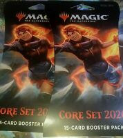 Lot of 2 Sealed Magic the Gathering: Core Set 2020 15 Card Booster/Blister Packs