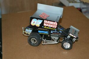 RACING CHAMPIONS WORLD OF OUTLAWS #07 SMOKEY SNELLBAKER WINGED SPRINT CAR CAST