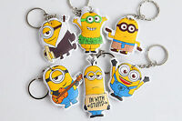Despite Me Minions School Girls boys Kids Key Ring Keyrings Holder Favor Gift