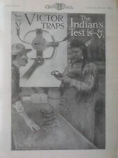 """Victor Trap Advertising poster,1913, """"Indian'S Test Is The V"""",Philip Goodwin"""