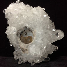 Natural crystal cluster quartz mineral specimens, hand-carved tai chi. Kung fu.