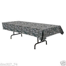 HALLOWEEN Medieval Party Decoration Dungeon STONE WALL Print Table Cover