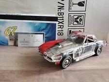 Franklin Mint 1967 Chevy Corvette Stingray L88 Red/Clear-Cast 1:24 Diecast Car