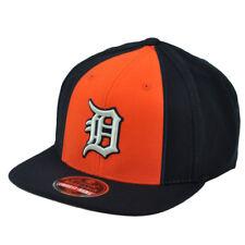 3be9c28dca0 MLB American Needle Detroit Tigers Snapback Flat Bill 2Tone Hat Cap Blue  Orange
