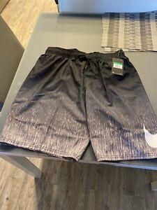 "New Nike Rush Black Ombre Breaker 9"" Volley Shorts Trunks Men's Swimwear Size XL"