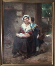 Leone Emile Caille French, 1836-1907 Original Oil Painting