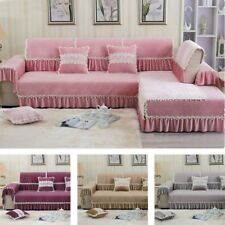 New Slipcover Soft Plush Corner Couch Cover Household Sofa Lace Protective Case