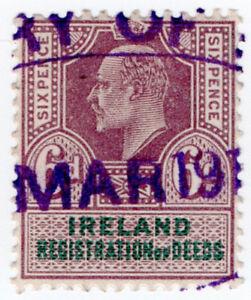 (I.B) Edward VII Revenue : Ireland Registration of Deeds 6d