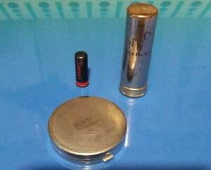 Vintage Mini Coty Compact, Mini Lipstick Tube, Erase By Max Factor