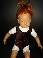 """Leotard/swimsuit  ideal for American Girl / Our Generation 18"""" Fashion doll"""