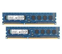 Lot Kingston 2GB 1RX8 DDR3 1333MHz PC3-10600U 240PIN DIMM RAM  Desktop memory