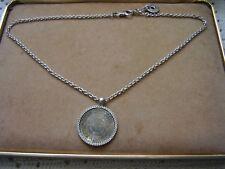 LIU - JO , collana argento 925 ciondolo SCRITTE cubic zirconia