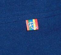Vintage ROFFE Navy blue with Rainbow Logo unisex XL ski snowboard pants