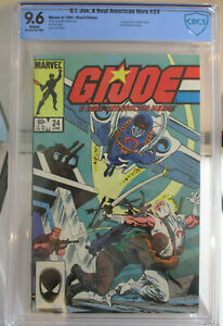G.I. JOE #24 (Marvel) CBCS 9.6 1984 First Zartan and Firefly in cameo Not CGC