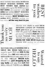 WOODWARE Clear Singles Stamps MINI BACKGROUND GREETINGS JGS660 Best Wishes