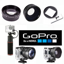 GOPRO HERO4 SILVER & BLACK WIDE ANGLE LENS+TELEPHOTO ZOOM LENS + POWER BANK
