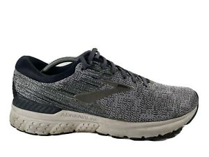 Brooks Adrenaline GTS 19 Gray Green Athletic Running Shoes Lace Up Mens US 13 D