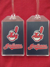 CLEVELAND INDIANS WORLD SERIES CHIEF WAHOO MLB LUGGAGE TAGS - SET OF 2 (PAIR)