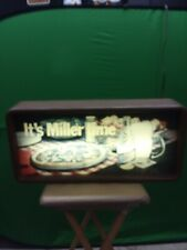 Welcome To Miller Time Pizza Beer Lighted Sign Vintage 1984 Works 25 1/2 x 12