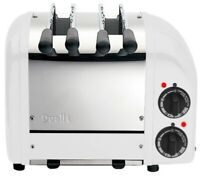 New Dualit Retro Style Two Sandwich Toaster 2 Slots White Stainless Steel 21059