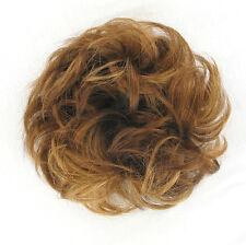 extension bollo en el cabello coletero rizado cobre rubio oscuro 17/g27