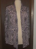 Chico's Lightweight Open Cardigan Sweater Wrap Sz. 3 Purple Plum Gray White