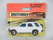 Matchbox Opel Vauxhall Frontera white